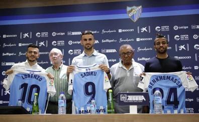El Málaga presenta a tres modestos con hambre de gloria