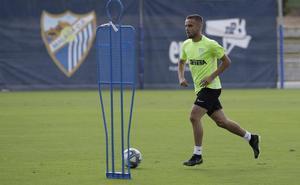 Ismael vuelve al trabajo y el Málaga podría llegar sin bajas al duelo contra el Mirandés