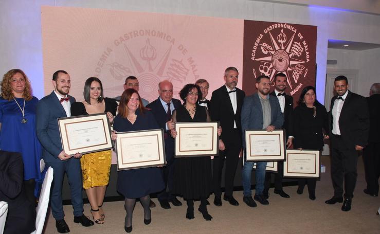 La Academia Gastronómica de Málaga entrega sus distinciones en una cena de gala en el hotel Marbella Club