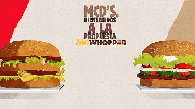 Burger King ofrece a McDonald's mezclar Whopper y Big Mac en el McWhopper