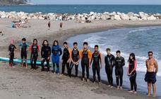 Young swimmers forced to train in the sea following Benalmádena pool closure