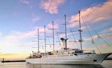 Cruise activity increases in Malaga with the arrival of one of the largest sailboats in the world