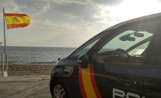 Heroic National Police officers save a man from drowning on a beach in Estepona
