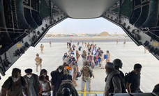 The first plane from Afghanistan arrives back in Spain