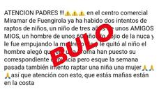Police say the attempted kidnapping of children in Fuengirola warning is fake