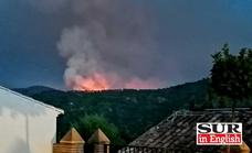 Infoca orders the lockdown of two villages and withdraws ground personnel due to the Sierra Bermeja fire cloud