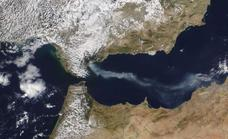 Smoke from the huge Sierra Bermeja blaze can be seen from space