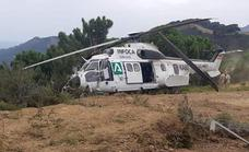 Helicopter, carrying 19 people, involved in accident at Sierra Bermeja blaze