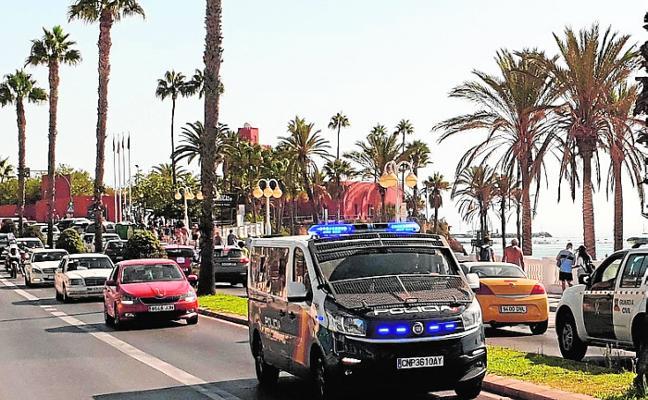 Demonstration causes long tailbacks in Benalmádena Costa