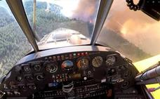 Video | Sierra Bermeja firefighting pilot: 'From the air, it was hell; the visibility was almost zero'