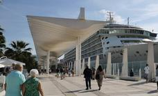 The World, the exclusive cruise ship for millionaires, sails back into Malaga