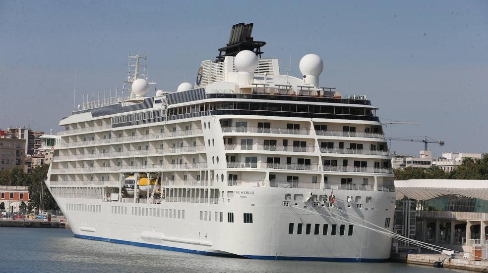 The World sails into Malaga - in pictures