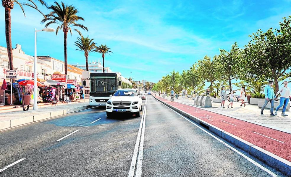 Council defends closing lanes to traffic on the coastal main road in Benalmádena Costa