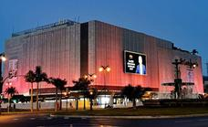 El Corte Inglés stores lit in pink in support of World Breast Cancer Day