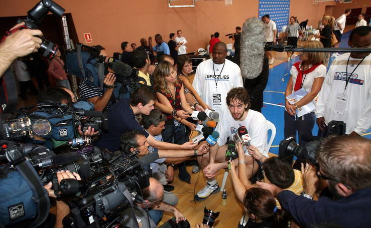 Así fue en fotos la visita de los Grizzlies a Málaga en 2007