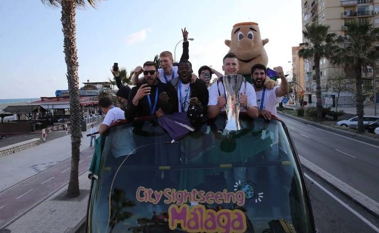 Así fue la celebración del Unicaja tras ganar la Eurocup