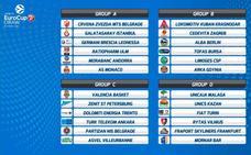El Unicaja ya conoce sus rivales de la EuroCup