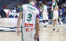 Máxima preocupación en el Unicaja por la lesión de Jaime Fernández