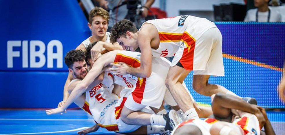 España, con tres canteranos del Unicaja, gana el oro europeo sub-18