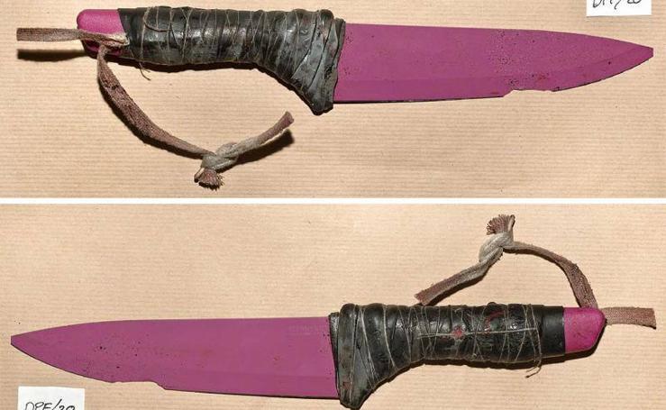 Fotos de las armas que utilizaron los terroristas de Londres