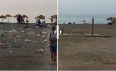 Así se levantan las playas de Málaga tras la resaca de San Juan