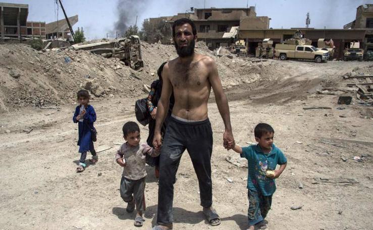 Nueva oleada de desplazamientos de civiles por la guerra activa del Estado Islámico