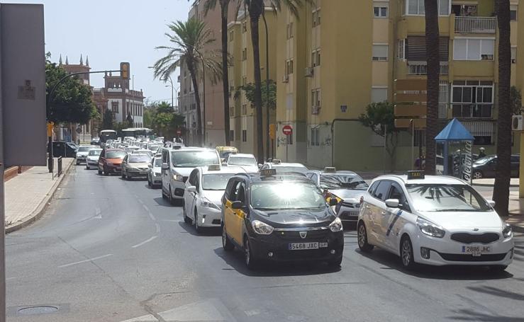 La huelga de taxis toma Málaga este lunes