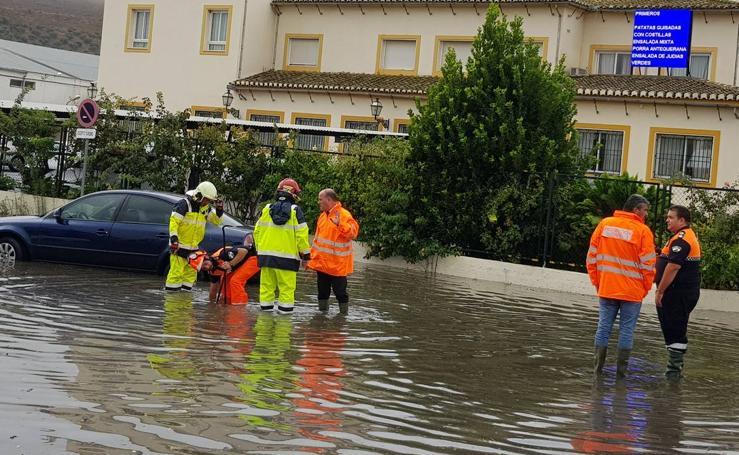 Fotos de la tromba de agua por la Dana en Málaga