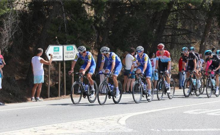 Fotos de la salida de La Vuelta desde Coín