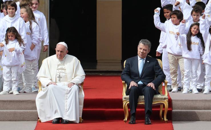 El Papa Francisco durante su visita a Colombia