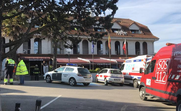 Dos matrimonios, heridos graves por una fuga de gas en un hotel de Cantabria