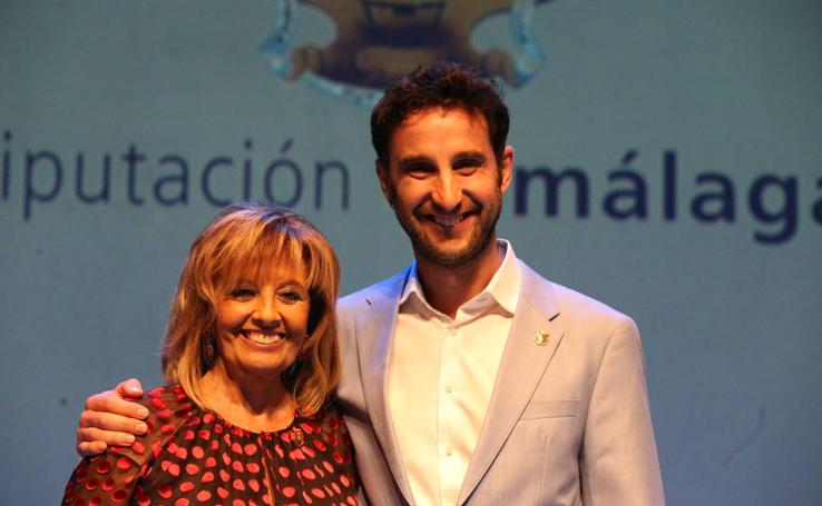 Dani Rovira y María Teresa Campos, reconocidos por la Diputación
