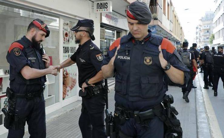 La Policia Nacional abandona Pineda de Mar