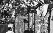 El rey Saud de Arabia, en los toros en Málaga