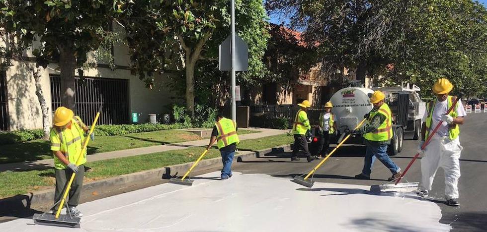 asfalto blanco para combatir el calor