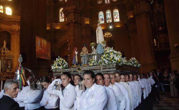 La procesión de la Virgen de Fátima, en imágenes