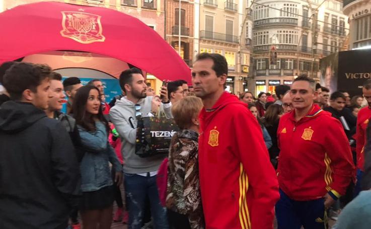 Las leyendas de la selección española disfrutan de Málaga