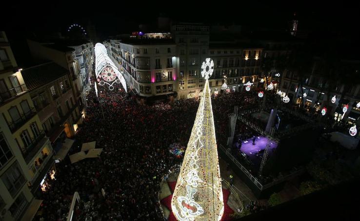 Así luce la Navidad en Málaga