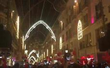 Vídeo: Así suena 'Merry Christmas' en el alumbrado de Navidad en Málaga 2017