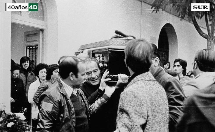 Funeral de Manuel José García Caparrós. 5 de diciembre de 1977