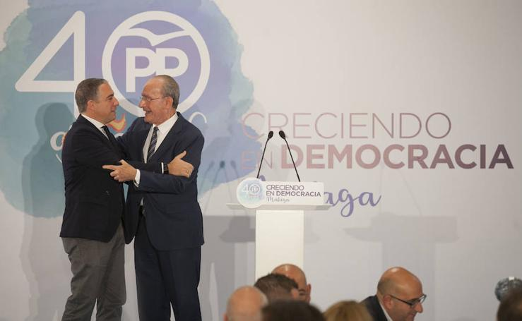 En fotos, la gran fiesta del PP para conmemorar sus 40 años de historia en Málaga