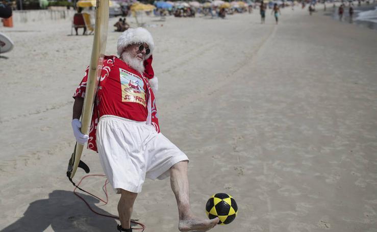 Así es la Navidad veraniega de Río de Janeiro