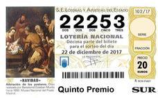 El último quinto 22253 toca en Rincón de la Victoria y Málaga capital