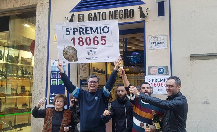 Fotos de todos los premiados de la Lotería de Navidad 2017 en Málaga