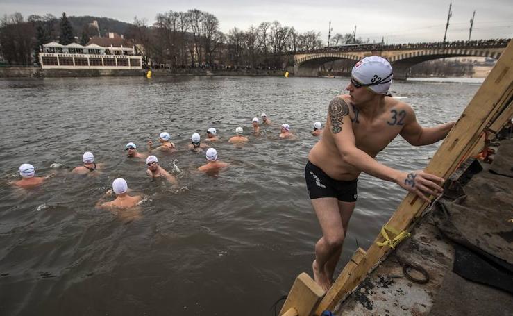 El baño más helado en Praga