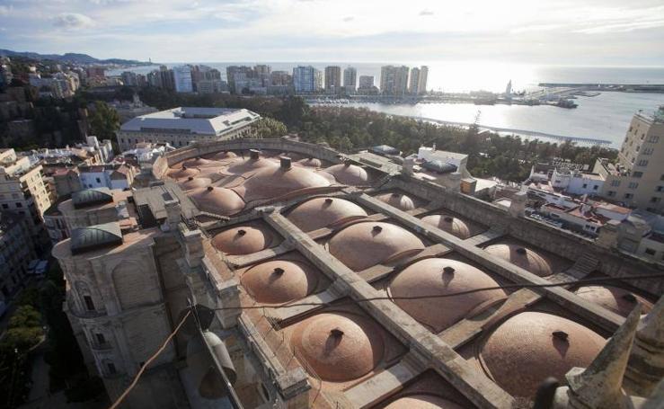 Imágenes desde el punto más alto de la Catedral de Málaga