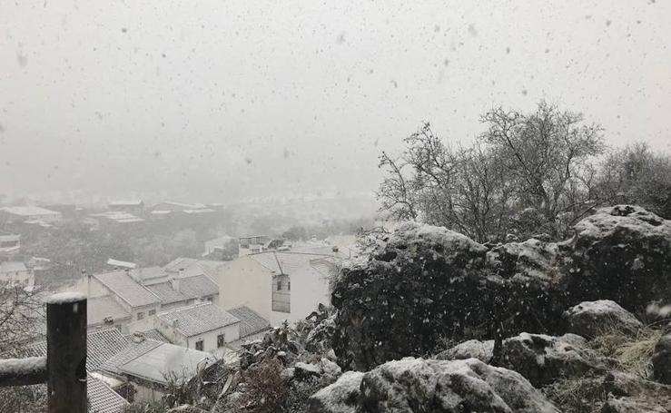 Fotos de la intensa nevada en la provincia de Málaga