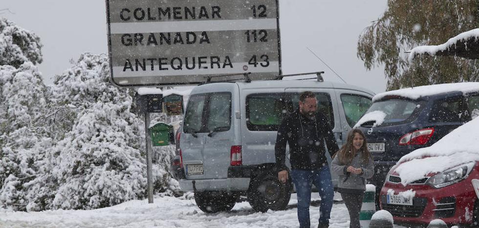 Fotos | La nieve llega a los Montes de Málaga