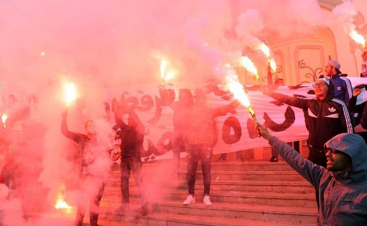 Imágenes de las revueltas en Túnez
