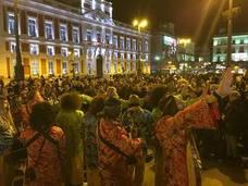 Los chamanes del Carnaval de Málaga toman la Puerta del Sol